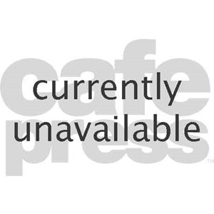 Warning: Blackish Oval Keychain