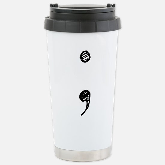 Semicolon Travel Mug