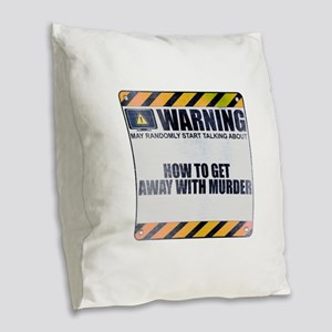 Warning: How to Get Away with Murder Burlap Throw