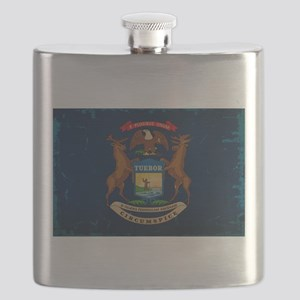 Michigan State Flag VINTAGE Flask