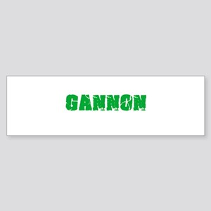 Gannon Name Weathered Green Design Bumper Sticker
