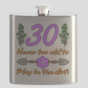 30th Birthday For Gardeners Flask