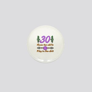30th Birthday For Gardeners Mini Button