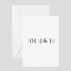Fork Bomb Greeting Cards