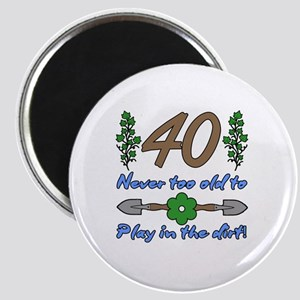 40th Birthday For Gardeners Magnet