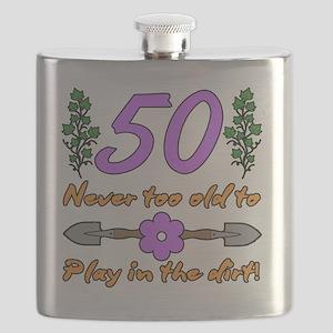 50th Birthday For Gardeners Flask