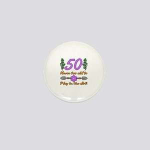 50th Birthday For Gardeners Mini Button