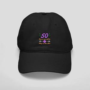 50th Birthday For Gardeners Black Cap