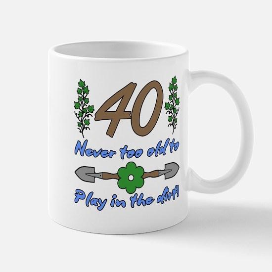 40th Birthday For Gardeners Mugs