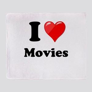 I Heart Love Movies Throw Blanket