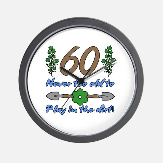 60th Birthday For Gardeners Wall Clock