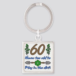 60th Birthday For Gardeners Square Keychain