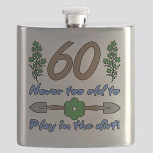 60th Birthday For Gardeners Flask