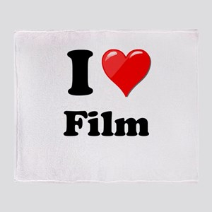 I Heart Love Film Throw Blanket