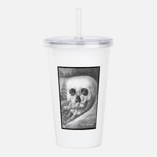 """""""Tete de mort"""" Acrylic Double-wall Tumbler"""