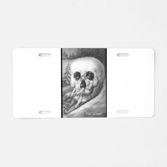 """Tete de mort"" Aluminum License Plate"