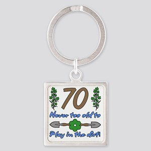 70th Birthday For Gardeners Square Keychain