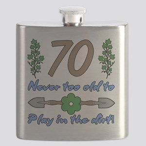 70th Birthday For Gardeners Flask