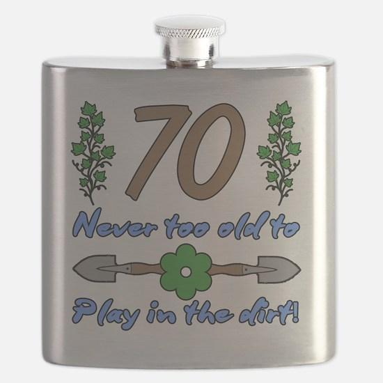 70th Birthday For Gardeners Flask