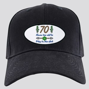 70th Birthday For Gardeners Black Cap