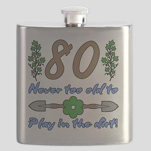 80th Birthday For Gardeners Flask