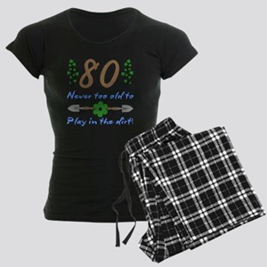 80th Birthday For Gardeners Women's Dark Pajamas