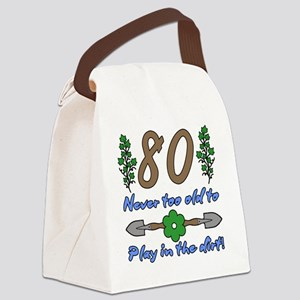 80th Birthday For Gardeners Canvas Lunch Bag