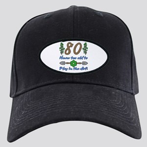 80th Birthday For Gardeners Black Cap