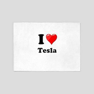 I Love Tesla 5'x7'Area Rug