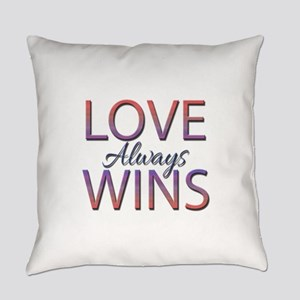 Love Always Wins - Everyday Pillow