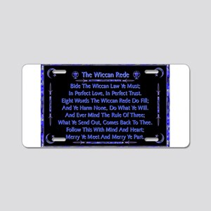 Rede in Blue on Black Aluminum License Plate