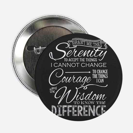 """Serenity Prayer (chalk 2.25"""" Button (10 Pack)"""
