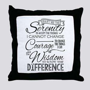 Serenity Prayer (chalk Text) Throw Pillow