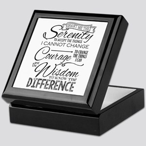 Serenity Prayer (Chalk Text) Keepsake Box