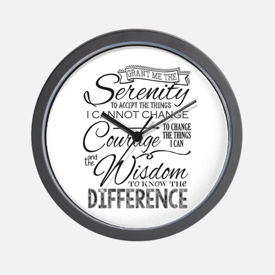 Serenity Prayer (chalk Text) Wall Clock