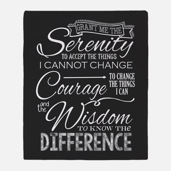 Serenity Prayer (chalk Text) Throw Blanket