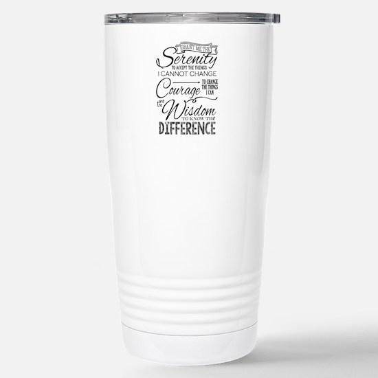 Serenity Prayer (chalk Stainless Steel Travel Mug