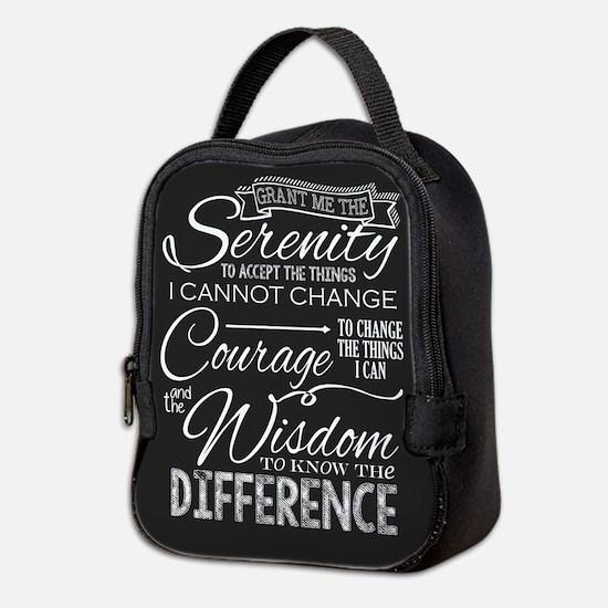 Serenity Prayer (chalk Text) Neoprene Lunch Bag