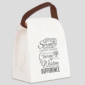Serenity Prayer (chalk Text) Canvas Lunch Bag