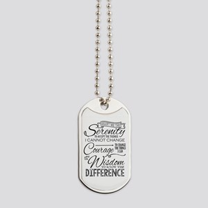 Serenity Prayer (chalk Text) Dog Tags