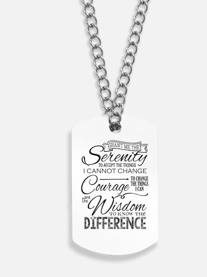 Serenity Prayer (chalk Text) Dog Tags