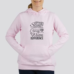 Serenity Prayer (chalk Women's Hooded Sweatshi