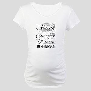 Serenity Prayer (chalk Text) Maternity T-Shirt