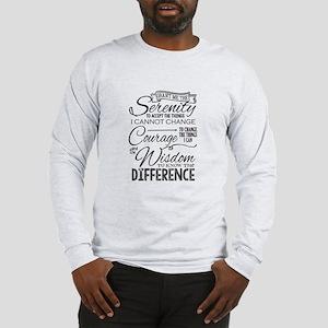 Serenity Prayer (chalk Text) Long Sleeve T-Shirt