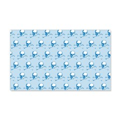 Blue Skull And Crossbones Pattern Wall Decal