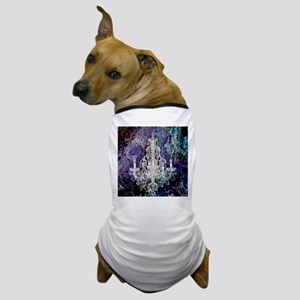 rustic vintage chandelier watercolor Dog T-Shirt