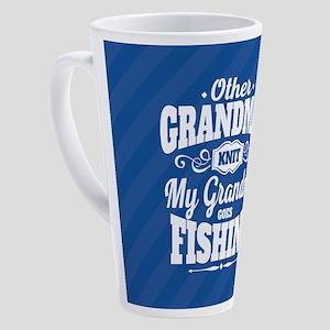 Fishing Grandma 17 oz Latte Mug