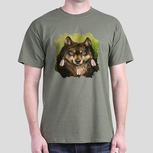 Three Feather Wolf Dark T-Shirt
