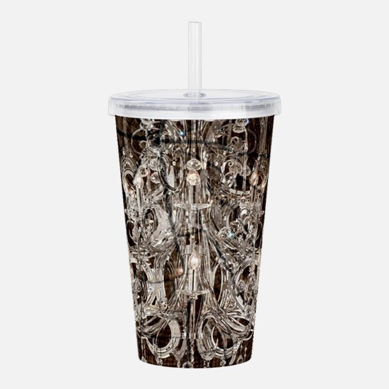rustic wood vintage ch Acrylic Double-wall Tumbler
