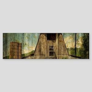 wood grain old barn Bumper Sticker